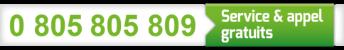 0 805 805 809 - Service & appel gratuits